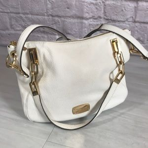 Michael Kors White pebbled leather bag